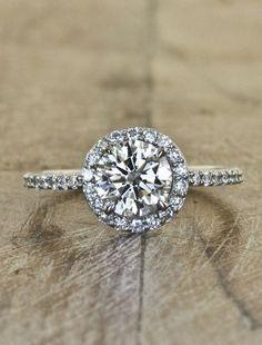 diamond halo engagement ring by Ken & Dana Design