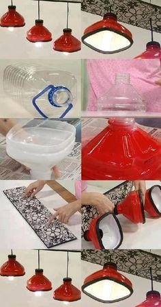 Olha que idéia genial. Além de ajudar o meio ambiente, deixa o ambiente da sua casa ou qualquer outro lugar lindo!! Cool Light Idea