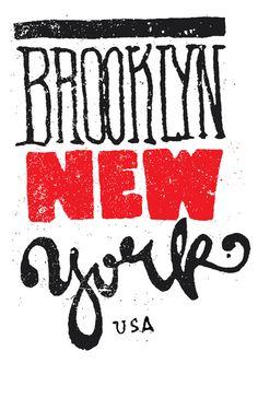 Brooklyn Typography New York by Andrei Robu