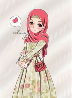 Healthy living images clipart black and white: Cartoon Sketches, Cartoon Pics, Cute Cartoon, Hijabi Girl, Girl Hijab, Muslim Girls, Muslim Women, Girly Pictures, Pictures To Draw