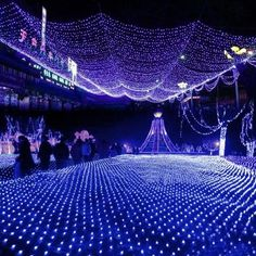 Blue 100 LED Net Mesh Fairy Lights Twinkle Lighting Christmas Wedding Party US/110V (scheduled via http://www.tailwindapp.com?utm_source=pinterest&utm_medium=twpin&utm_content=post119202561&utm_campaign=scheduler_attribution)