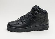 Nike Wmns Air Force 1 '07 Mid (Black / Black) #lpu #