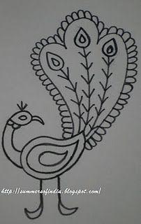 Kalamkari Peacock Motif from SummersofIndia.blogspot.com