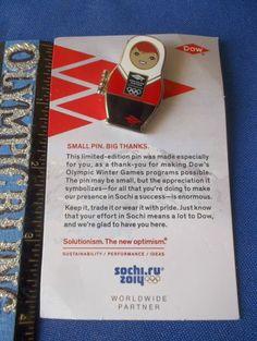 2014 Sochi Olympic Pin Dow Nesting Doll Opens Up Olympic Stadium Inside Sponsor | eBay