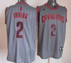 Cavaliers #2 Kyrie Irving Grey Static Fashion Embroidered NBA Jersey! Only $25.50USD