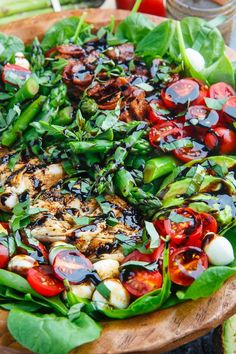 Grilled Chicken and Asparagus Caprese Spinach Salad with Bacon and Avocado summer recipes summer recipes abendessen rezepte recipes recipes dessert recipes dinner Bacon Spinach Salad, Bacon Avocado, Salad With Asparagus, Avocado Salads, Broccoli Salad, Baby Spinach, Light Summer Meals, Summer Nights, Breakfast And Brunch