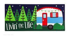 Evergreen Sassafras Switch Mat Garden Livin the Life Happy Camper RV 431199