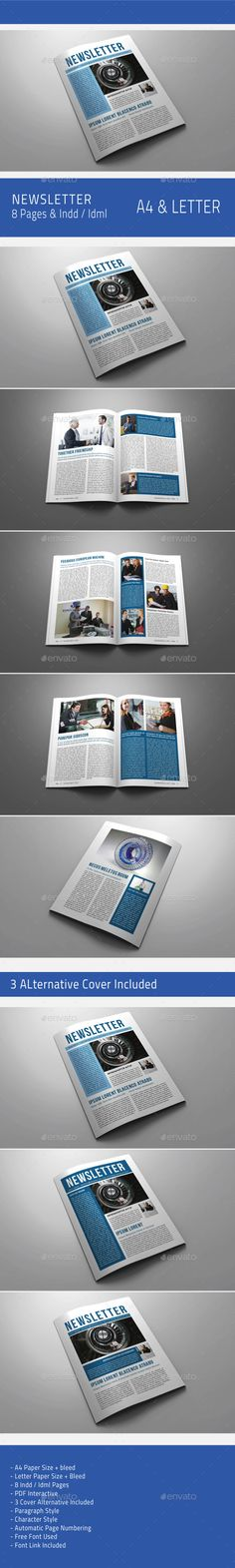 Multipurpose Newsletter  Print Templates Newsletter Templates
