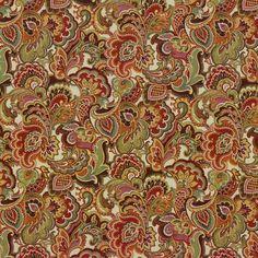 Fandango Rainbow by Kasmir Mandala Pattern, Paisley Pattern, Green Fabric, Floral Fabric, Paisley Coloring Pages, Fabric Patterns, Sewing Patterns, Pattern Names, Vintage Fabrics
