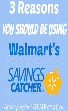 3 Reasons You Should Be Using Walmart's Savings Catcher. First of all, you should know I LOVE Walmart Savings Catcher.