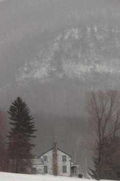 Winter mountain house