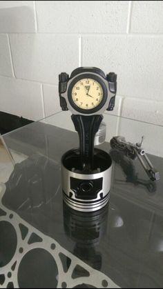 Piston clock by Richysyard on Etsy