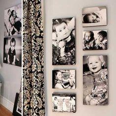 Wall photo ideas