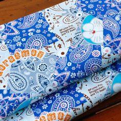Doraemo Fabric. Blue cotton fabric by JPfabric on Etsy https://www.etsy.com/listing/465589014/doraemo-fabric-blue-cotton-fabric