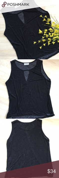 """Velvet by Graham and Spencer keyhole wrap blouse Sleeveless faux wrap blouse with keyhole detail. Small hidden snap under keyhole to keep pieces from draping open. Softest material ever! Brand sold at Anthropologie. ~42"""" bust and 24"""" long. In excellent condition. Anthropologie Tops Tank Tops"""