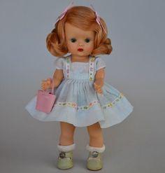 1953 Strung MUFFIE Doll Nancy Ann In #508-1 Muffie Happy Stunning Copper Blonde #NancyAnnStorybookDolls #Dolls