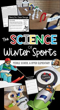 Teach physics concepts this year through the exhilarating sports of the winter olympics. This NGSS unit is a dive into the sports of Curling, Bobsledding, and Downhill Skiing and includes a research project in which students can investigate the science be Winter Crafts For Kids, Winter Fun, Winter Sports, Holiday Activities, Science Activities, Science Resources, Stem Science, Physical Science, Science Lessons