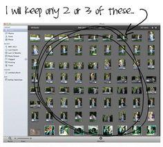 How to sort through years worth of photos via lilblueboo.com