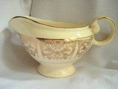 Vintage Taylor Smith Taylor Creamer Gold and by BedGlassandBeyond, $15.00