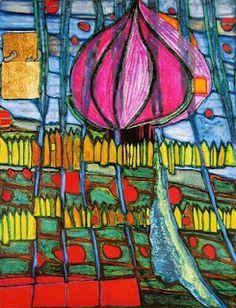 the lending library: friedrich hundertwasser Queen Elizabeth 2, Modern Art, Contemporary Art, Friedensreich Hundertwasser, Art Lessons For Kids, Art Graphique, Art And Architecture, Bunt, Mondrian