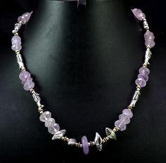 (SKU NO:168ct) Natural Semi Precious Designer Beads Necklace Faceted