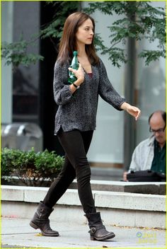 Kristin Kreuk in Beauty and the Beast-love the sensible shoes!