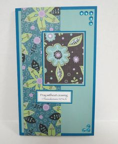 Teal Flowered Christian Prayer Journal With Scripture by stufffromtrees on Etsy