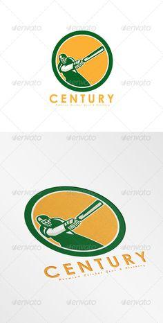 Century Premium Cricket Gear Logo — Vector EPS #artwork #bat • Available here → https://graphicriver.net/item/century-premium-cricket-gear-logo/8754554?ref=pxcr