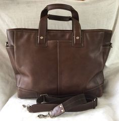 Coach f70103 Transatlantic Leather Crossbody Briefcase Attache in Clothing, Shoes & Accessories, Unisex Clothing, Shoes & Accs, Unisex Accessories | eBay