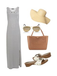 Love an easy summer outfit, love it even more with Dr Scholls Shoes, Simple Summer Outfits, Wooden Sandals, French Chic, Spring Summer Fashion, Style Me, Essentials, Elegant, Casual