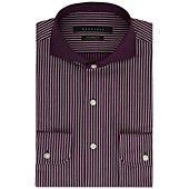 Sean John Eggplant Stripe Dress Shirt