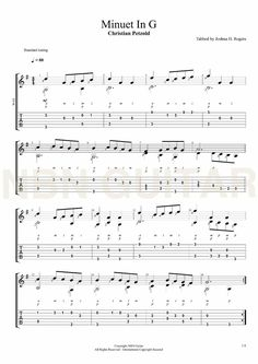 Minuet in G - Christian Petzold (Sheet Music & Tabs) Guitar Tabs Songs, Music Tabs, Music Chords, Lyrics And Chords, Music Guitar, Guitar Strumming, Fingerstyle Guitar, Guitar Chords, Online Guitar Lessons