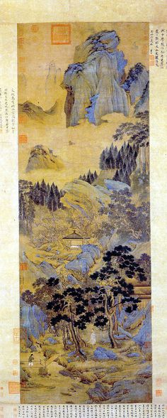 """thorsteinulf: """" Qiu Ying - Peach Village Qiu Ying (ca.1494-1552) was a Chinese painter of the Ming Dynasty who specialized in the gongbi (meticulous) brush technique. His talent and versatility allowed him to become regarded as one of the Four Great..."""
