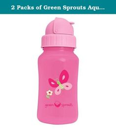 2 Packs of Green Sprouts Aqua Bottle - Pink - 1 Ct. Grow Healthy. Grow Happy BPA Free! Non-Spill Aqua Bottle Interchangeable! Extra Straw Included At Green Sprouts we know you want the best for your baby. That's why we make baby-friendly products for your little one to grow up healthy and happy. Meets CPSIA, FDA and ASTM F963 safety standards for the US. Silicone Sipper PVC free soft sipper Straw Top Flip top keeps sipper clean and prevents leaks Straw PVC free Wide Mouth Wide opening for...
