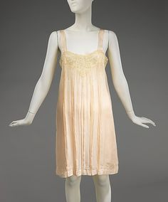 Lingerie Date: ca. 1930 Culture: French Medium: silk Dimensions: Length at CB (a): 37 in. (94 cm) Length at CB (b): 22 in. (55.9 cm) Credit Line: Brooklyn Museum Costume Collection at The Metropolitan Museum of Art, Gift of the Brooklyn Museum, 2009; Gift of Arturo and Paul Peralta-Ramos, 1955 Accession Number: 2009.300.1216a, b