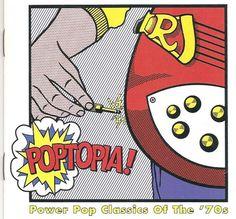 1997 Various Artists - Poptopia! Power Pop Classics Of The '70s [Rhino R2-72728 (US)] Roy Lichtenstein style #albumcover