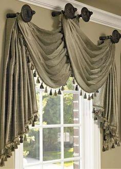 Curtains are dressy window coverings that can alter the appearance and do wonders for rooms in a home. It can make a room look more spacious or compac. Window Curtain Designs, Curtain Styles, Home Curtains, Hanging Curtains, Window Curtains, Gypsy Curtains, Swag Curtains, Grommet Curtains, Kitchen Curtains