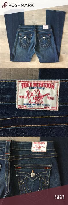 True Religion Joey jeans size 27 Gently worn , size 27 , inseam is 33.5 inches , feel free to make a reasonable offer True Religion Jeans