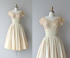 Joulette dress | vintage 1950s dress • lace and chiffon 50s dress