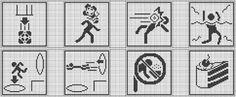 Set of 8 Portal Warning Signs Cross Stitch Pattern by KyotiJess, $5.50