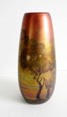 Weller art pottery vase - Lasa design - metallic finish