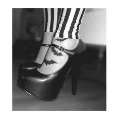Bat tattoo placement feet