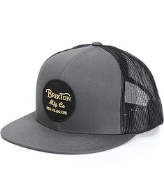 9312d59578d Hats · Improve your comfort and style with black mesh back panels on a  charcoal colorway for a