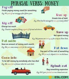 phrasal verbs with money