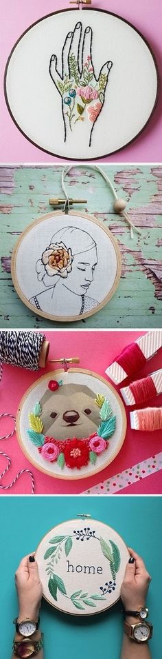 Embroidery by 15 contemporary artists shared on the blog!