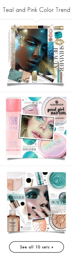 """""""Teal and Pink Color Trend"""" by yours-styling-best-friend ❤ liked on Polyvore featuring beauty, Too Faced Cosmetics, Urban Decay, Guerlain, shimmerbeauty, Bare Escentuals, Chantecaille, Puma, 3ina and Shiseido"""