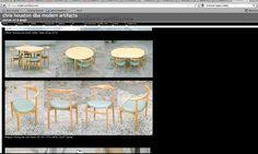 "http://www.modernartifacts.net/ Wegner Dining Set w/6 chairs 45""-61""-77""w 28""ht  2X16"" leaves"