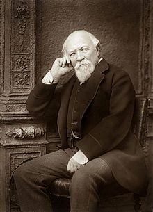 """Robert Browning, 1812-1889, (Br.) poet. """"My Last Duchess"""" Fra Lippo Lippi,"""" The Ring and the Book."""