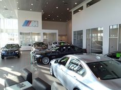 Our gorgeous BMW showroom at Cain BMW