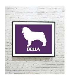 Dog Silhouette Digital Art Print - Australian Shepherd - Personalized Dog Art - Personalised Gift - Pet Portrait - Printby OutlineArt on Etsy Dog Silhouette, Australian Shepherd, Dog Art, Border Collie, Pet Portraits, Moose Art, Digital Art, Art Prints, Pets